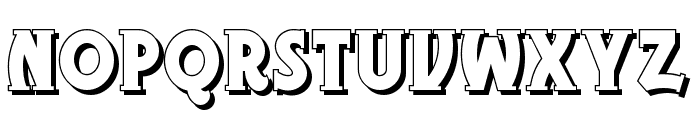Gramophone Shaded NF Font UPPERCASE