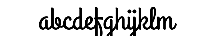 GrandHotel-Regular Font LOWERCASE