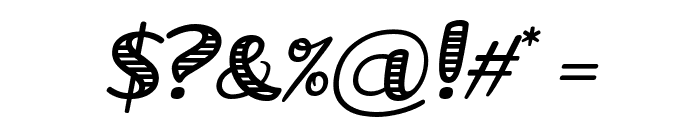 Grande October Four Italic Font OTHER CHARS