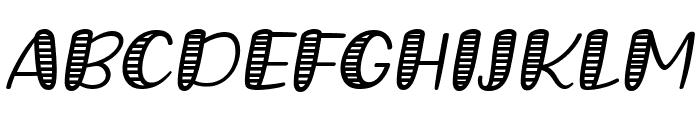 Grande October Four Italic Font UPPERCASE