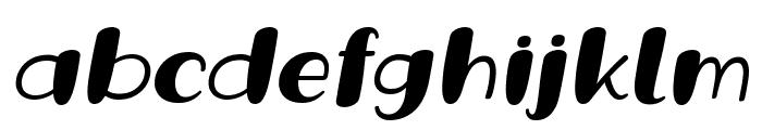 Grande October Three Italic Font LOWERCASE