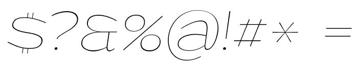 Grandi PERSONAL USE Thin Italic Font OTHER CHARS
