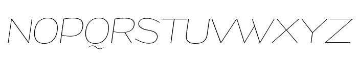 Grandi PERSONAL USE Thin Italic Font UPPERCASE