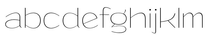 Grandi PERSONAL USE Thin Font LOWERCASE