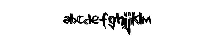 GrandiousVengeance Font LOWERCASE