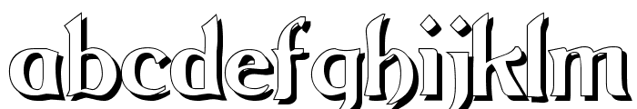 Grange Shadow Font LOWERCASE