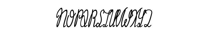 Grannie Terrill Regular Font UPPERCASE