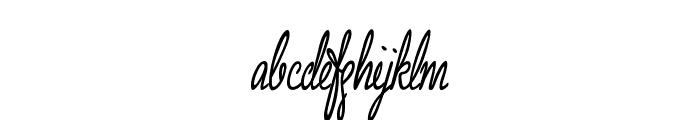 Grannie Terrill Regular Font LOWERCASE