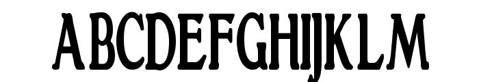GranthamCondensed Bold Font UPPERCASE