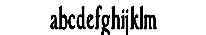 GranthamCondensed Bold Font LOWERCASE