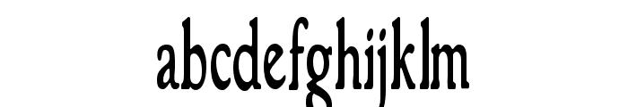 GranthamCondensed Roman Font LOWERCASE