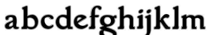 GranthamOutline Font LOWERCASE