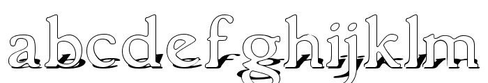 GranthamShadow Font LOWERCASE