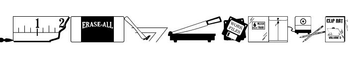 Graphic Arts JL Font LOWERCASE