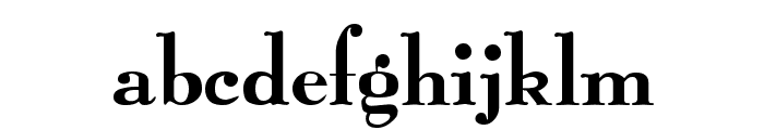Graphic Regular Font LOWERCASE