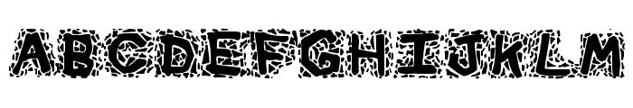 Gravel Font UPPERCASE