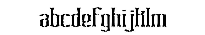 Graveyard BRK Font LOWERCASE