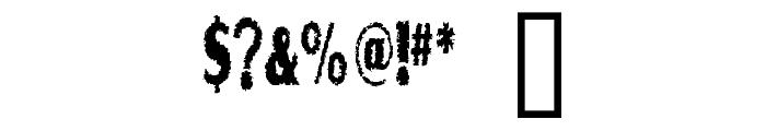 Graveyard Shift Font OTHER CHARS