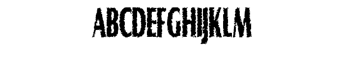 Graveyard Shift Font UPPERCASE