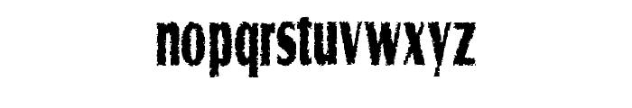 Graveyard Shift Font LOWERCASE