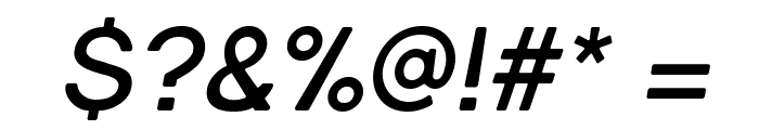 Gravity-Bold Italic Font OTHER CHARS