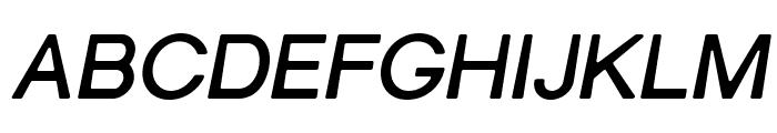 Gravity-Bold Italic Font UPPERCASE