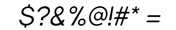 Gravity-BookItalic Font OTHER CHARS