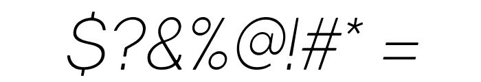 Gravity-Light Italic Font OTHER CHARS