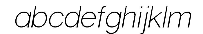 Gravity-Light Italic Font LOWERCASE