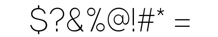 Gravity-Light Font OTHER CHARS