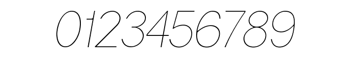 Gravity-UltraLight Italic Font OTHER CHARS