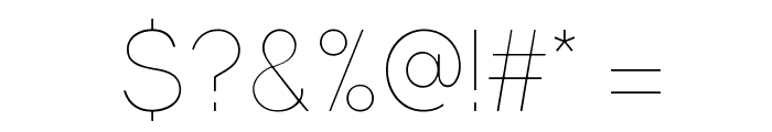 Gravity-UltraLight Font OTHER CHARS