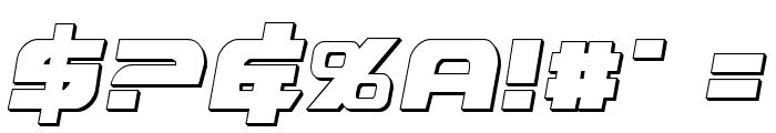 Graymalkin 3D Condensed Font OTHER CHARS