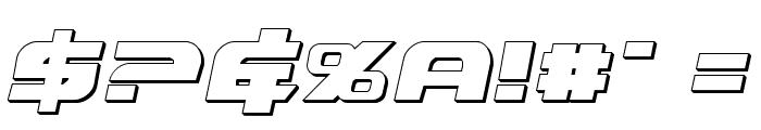 Graymalkin 3D Font OTHER CHARS