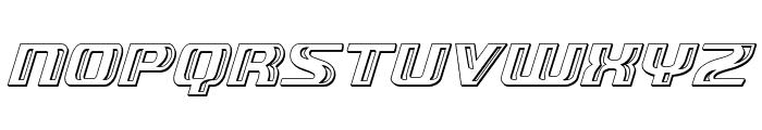 Grease Gun Chrome Italic Font UPPERCASE