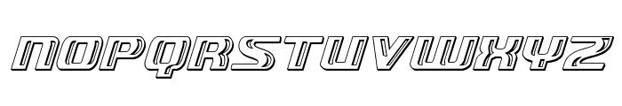 Grease Gun Chrome Italic Font LOWERCASE
