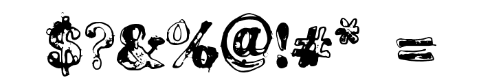 Grease Monkey Font OTHER CHARS