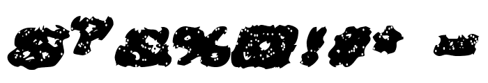 Greased Monkey Font OTHER CHARS