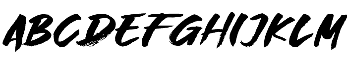 Great Fighter Font UPPERCASE