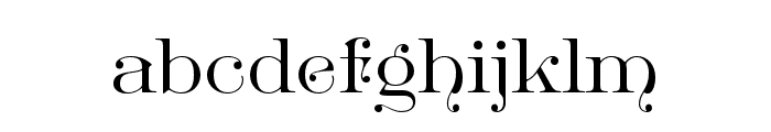 GreatVictorian-Standard Font LOWERCASE