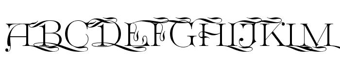 GreatVictorian-Swashed Font UPPERCASE