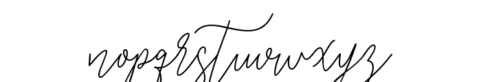 GredomMonoline Font LOWERCASE