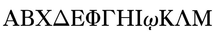 Greek Old Face 98 Font UPPERCASE