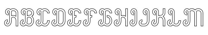 Green Avocado-Hollow Font UPPERCASE