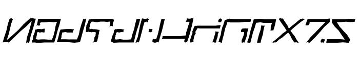 Green Martian Distressed Italic Font UPPERCASE