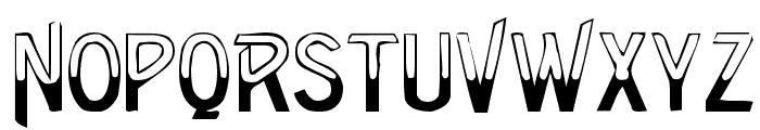 Green Regular Font LOWERCASE
