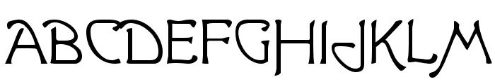 Greeting [Plain]:001.000 Font UPPERCASE