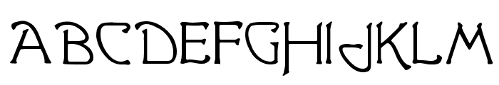 Greetings Font UPPERCASE