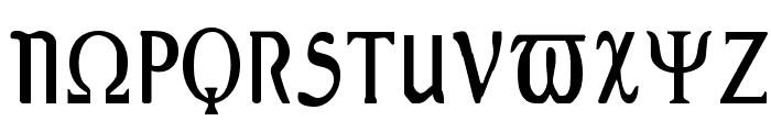 Greex Font UPPERCASE