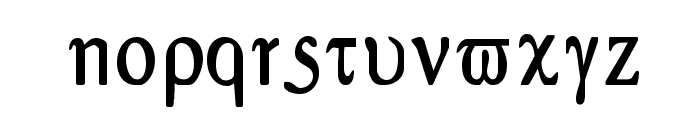 Greex Font LOWERCASE